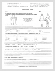 Medford Chiropractic New Patient Forms